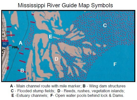wing dams mississippi river map Exploring Mississippi River Backwaters Paddling Com wing dams mississippi river map